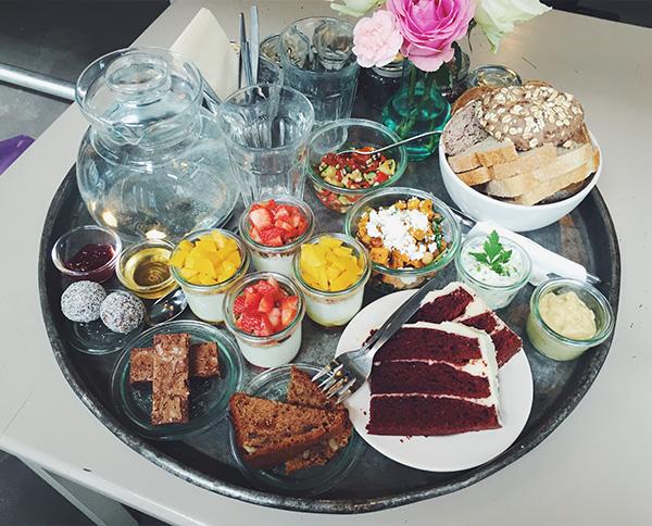 High tea table